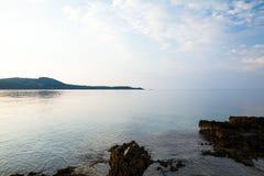 Île de Thassos - plage d'AMOs de Psili Images stock