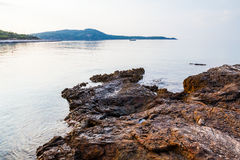 Île de Thassos - plage d'AMOs de Psili Image libre de droits