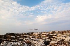 Île de Thassos - plage d'AMOs de Psili Photo stock
