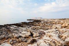 Île de Thassos - plage d'AMOs de Psili Photographie stock libre de droits