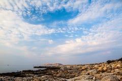 Île de Thassos - plage d'AMOs de Psili Image stock