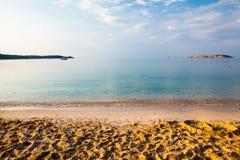 Île de Thassos - plage d'AMOs de Psili Photos stock