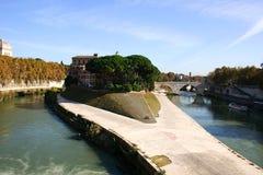 Île de Tiber image libre de droits