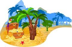 Île de trésor Photos libres de droits