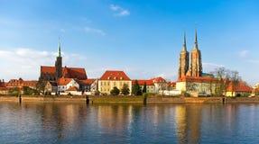 Île de Tum à Wroclaw photos stock