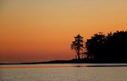 Île de Tumbo de lever de soleil Images libres de droits