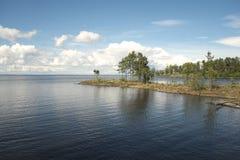 Île de Vallam. Rivage. Image stock