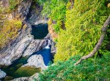 Île de Vancouver de nids de poule de Sooke photographie stock