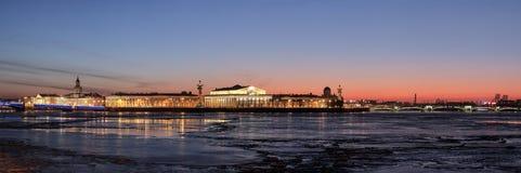 Île de Vasilevsky de flèche image stock