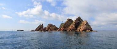 Île de Verhovsky, mer japonaise, Russie Images stock