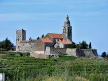 Île de Vis Croatia - hausse de faire du vélo Image libre de droits