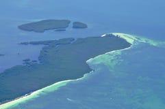 Île de vue aérienne Photographie stock libre de droits