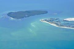 Île de vue aérienne Photographie stock