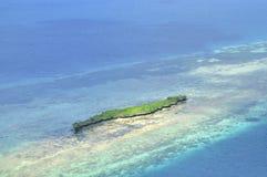 Île de vue aérienne Image stock