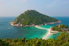 Île de yuan de Nang, KOH Tao, Thaïlande Photo stock