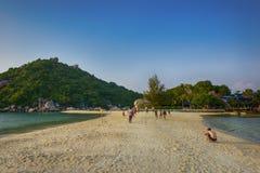 Île de yuans de nang de KOH, Surat, Thaïlande photos stock