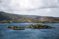 Île des îles BRITANNIQUES de mer de vue de panorama de l'Ecosse de ciel image libre de droits