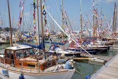 Île des bateaux à voile de Wight Photos stock