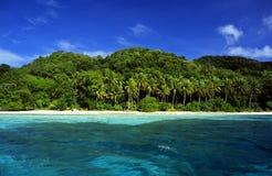 Île des Caraïbes Image libre de droits