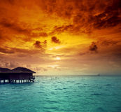 Île des Maldives image libre de droits