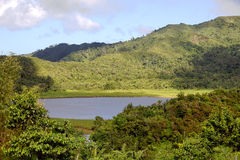 Île du Grenada - lac grand Etang Photo stock