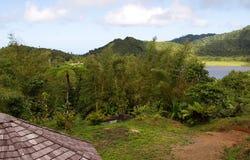 Île du Grenada - lac grand Etang Image stock