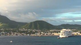 Île du Kitts de saint banque de vidéos