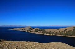 Île du soleil, lac Titicaca, Bolivie Photographie stock libre de droits