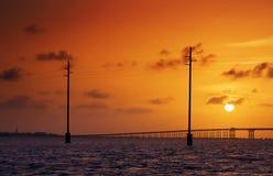 Île du sud d'aumônier, coucher du soleil Photos stock