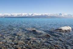 Île du sud Nouvelle-Zélande de Tekapo de lac Photographie stock libre de droits