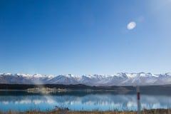 Île du sud Nouvelle-Zélande de Tekapo de lac Photo stock