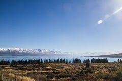 ÎLE DU SUD NOUVELLE ZÉLANDE DU LAC TEKAPO Photo libre de droits