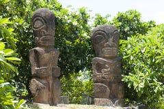 Île du Tahiti de statues photo stock