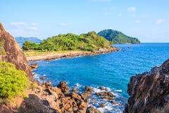Île en mer d'Andaman Images libres de droits