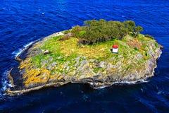 Île en Mer du Nord, vue à partir de dessus Photo libre de droits