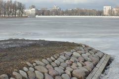 Île en pierre à St Petersburg Images libres de droits