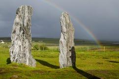 Île en pierre de l'Ecosse harris d'anneau photo stock