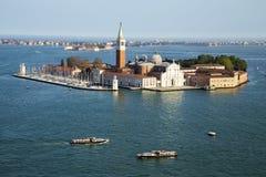 Île et église célèbres de San Giorgio Maggiore près de San Marco, Venise image libre de droits