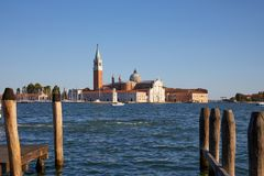 Île et basilique de San Giorgio Maggiore à Venise, Italie photographie stock libre de droits