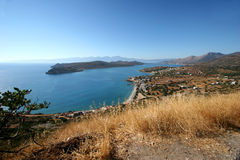 Île et compartiment de Spinalonga Photographie stock libre de droits