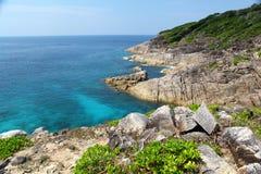 Île et mer Photo libre de droits