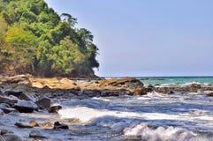 Île fabuleuse Image libre de droits