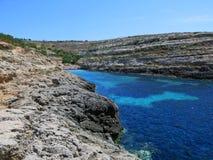 Île fantastique de LAMPEDUSA en Italie images libres de droits