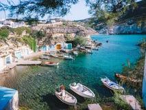 Île Grèce de paradis de bateau photographie stock libre de droits