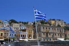 Île grecque Photos libres de droits