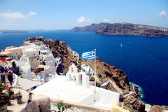 Île grecque de Santorini Images libres de droits
