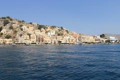 Île grecque panoramique Photos libres de droits