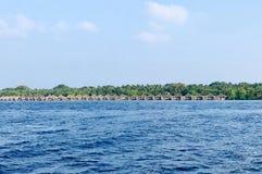 Île-hôtel de Kuramathi, Maldives photographie stock