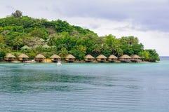 Île-hôtel d'Iririki - Port Vila images stock