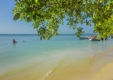 Île-hôtel tropicale à Carthagène Colombie photographie stock